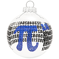 Pi Glass Ornament - 1160631 - $8.99